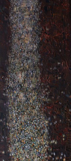 OGHAGBON MOSES, ''ONE VOICE 4'' MIXED MEDIA , 54'' X 16', 2014-2015. AVAILABLE