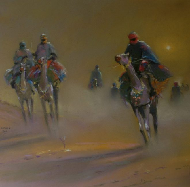 OGHAGBON MOSES, PASTEL,2011. ''EVENING HAZE'' 3. SOLD