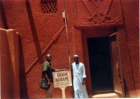 OGHAGBON E. MOSES AT KANTA MUSEUM ARGUNGU KEBBI STATE