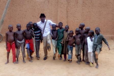 WITH ALMAJIRI'S @ ARGUNGU, KEBBI STATE, NIGERIA.